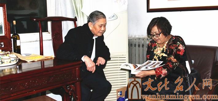 拜访研究院学术顾问、岱宗书画院副院长韩绪顺先生