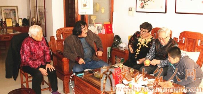 拜访著名书画家泰山五老吴金满夫妇