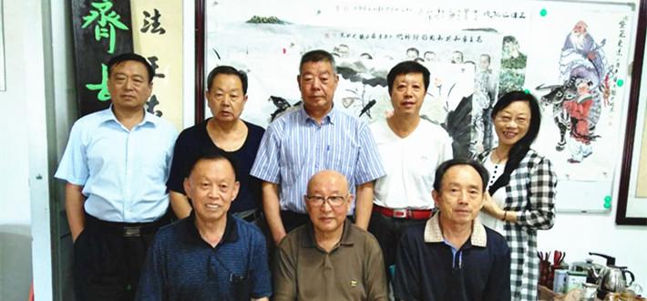 """中国文化名人诗词书画研究院、齐长城书画院举行喜迎党的""""十九大""""胜利召开书画笔会"""