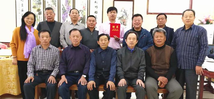 中国文化名人诗词书画研究院齐长城创作基地落地长清区孝里人家并举行重阳节书画交流活动