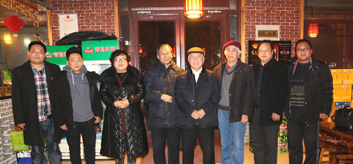 文化名人网与济南众书画家欢聚一堂共话书画文化与友谊