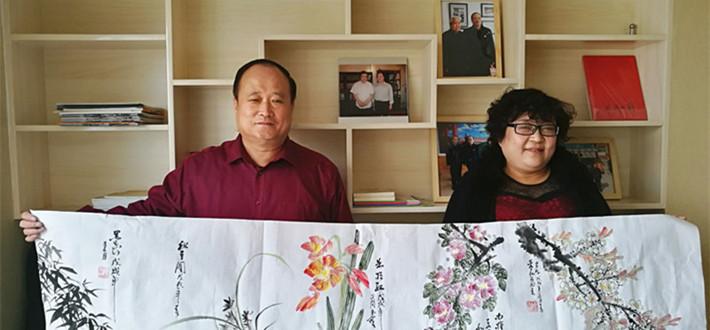 """""""东风徐来,百花欲放""""拜访研究院副院长、藏名诗诗人、 作家、书画家李玉宝"""