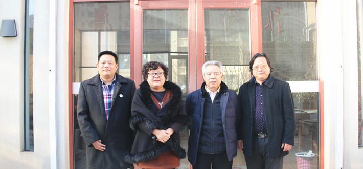 拜访中国硬笔书法协会名誉副主席、山东工作委员会主席、山东羲之书画艺术研究院院长李岩选先生