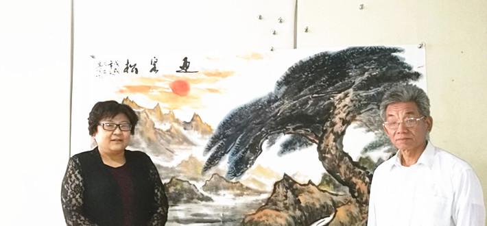 小满大成·研究院学术顾问、大写意画家祝连明到访文化名人网
