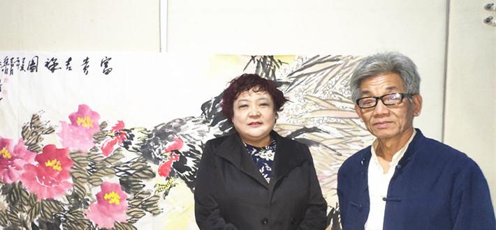 大写意画家、中国文化名人诗词书画研究院学术顾问祝连明到访文化名人网