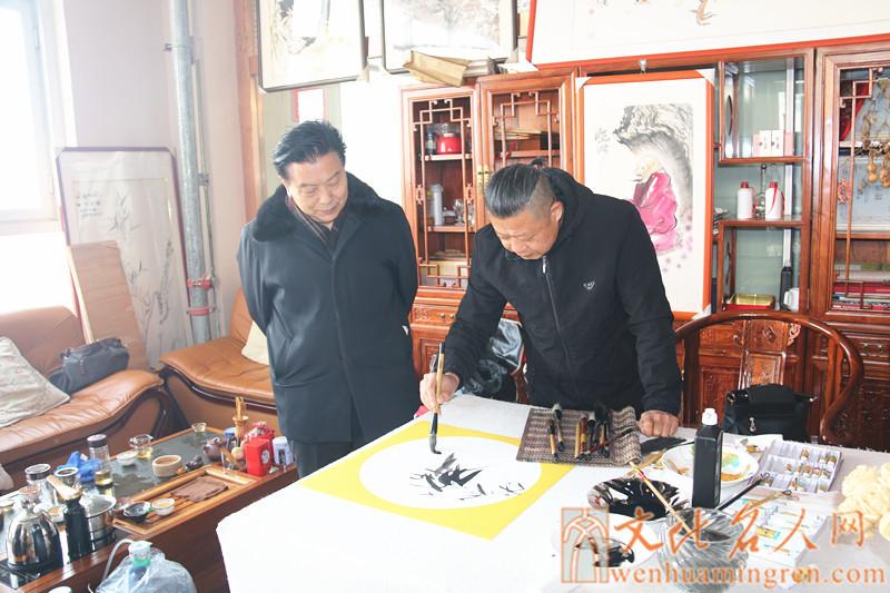 画家冯波创作国画作品
